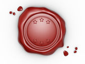 Red wax seal — Stock Photo