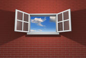 Window open to the sky — Stock Photo