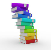 Stack of colorful folders — Stock Photo