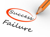 Choosing between success and failure — Stock Photo