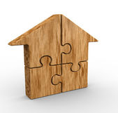 House made of puzzle pieces — Stock Photo