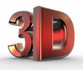 Shiny metallic 3D — Stock Photo