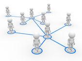 Men arranged in network — Stock Photo