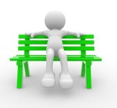 Man sitting on the bench — Stock Photo
