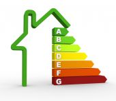 Energy efficiency chart — Stock Photo