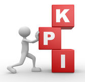 Cubes and KPI ( key performance indicator ) — Stock Photo
