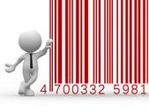 Man with a bar code — Stock Photo