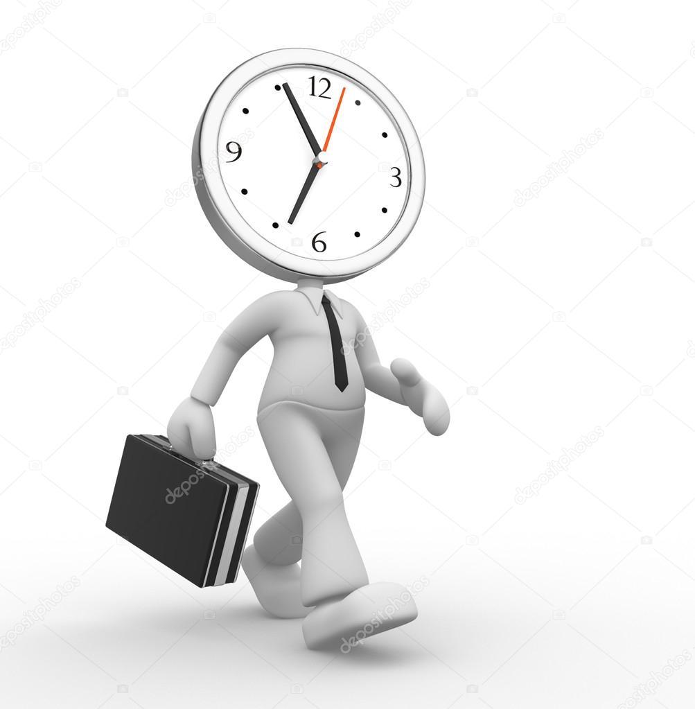 3d hombre corriendo fuera de tiempo foto de stock for Fuera de tiempo