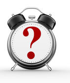 Alarm clock and a question mark — Stock Photo