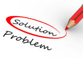 Choosing between solution and problem — Stock Photo