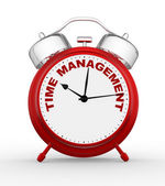 Clock and sign time to management — Stock Photo