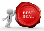 Person with best deal wax seal — Stock Photo