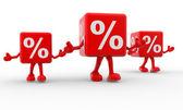 Percentage sign — Stock Photo