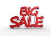 Text big sale — Stock Photo