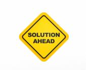 Solution Ahead traffic sign — Stock Photo