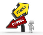 Person with Family and Career balance — Stock Photo