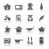 Kitchen Utensils and Appliances Icons — Stock Vector