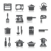 Kitchen Utensils and Appliances Icons — 图库矢量图片