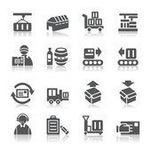 Logistics and Transport Icons — Stock vektor
