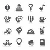 A collection of different kinds of valentines and love icons. — Vector de stock