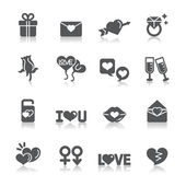 Valentines and Love Icons — Vector de stock