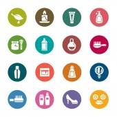 Beauty and Cosmetic Color Icons — Stock Vector