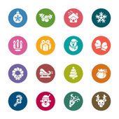 Christmas Element Color Icons — Stock Vector