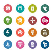 Energy Color Icons — Stock Vector