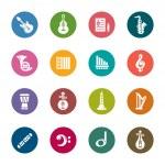 Постер, плакат: Music Color Icons