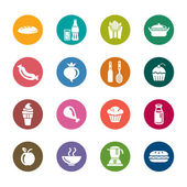 Food and Drinks Color Icons — Stock Vector