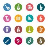 Music Color Icons — Vector de stock