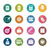 Biuro kolor ikony — Wektor stockowy