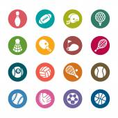 Sport Color Icons — Stock Vector