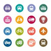 Transportation Color Icons — Stock Vector