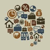 业务中谈话形状的图标 — 图库矢量图片