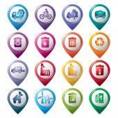 Environmental Protection Pointer Icons — Stock Vector