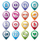 Valentines and Love Pointer Icons — Stock Vector