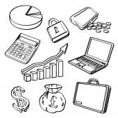 Financial & Business Icon Set — Stock Vector