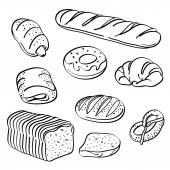 Bread Collection — Stock Vector