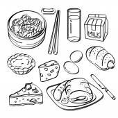 Breakfast Collection — Stock Vector