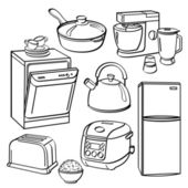 Kitchen Utensils and Appliances — Stock Vector