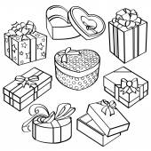 Geschenk box collectie — Stockvector
