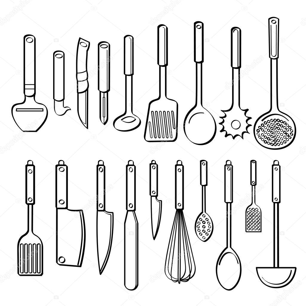 Utensilios de cocina vector de stock 53106629 for Utensilios cocina