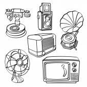 Vintage Electric Appliances — Stock Vector
