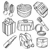 Shopping Set and Consumer Goods Collection — Stock vektor