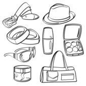 Shopping Set and Consumer Goods Collection — Vector de stock