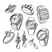 Jewellery and Watches — Vettoriale Stock