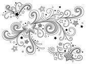Ornate stars — Stock Vector
