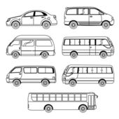 Transportation Vehicle Collection — Stock Vector