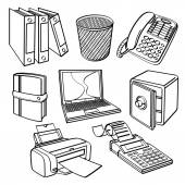 Office equipment Collection — Stock Vector